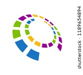 abstract colorful vector logo....   Shutterstock .eps vector #1189654894
