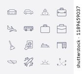 outline 16 vacation icon set.... | Shutterstock .eps vector #1189659037