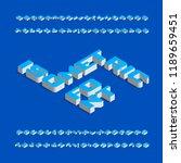 isometric alphabet font. three... | Shutterstock .eps vector #1189659451
