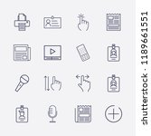 outline 16 press icon set. id... | Shutterstock .eps vector #1189661551