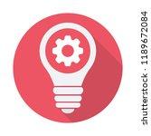 light bulb icon  idea  solution ... | Shutterstock .eps vector #1189672084