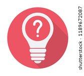 light bulb icon  idea  solution ... | Shutterstock .eps vector #1189672087