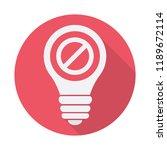 light bulb icon  idea  solution ... | Shutterstock .eps vector #1189672114