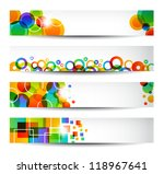 Four Colorful Banners For Web...