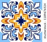 italian ceramic tile pattern.... | Shutterstock .eps vector #1189676524