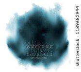 black oil and water splash.... | Shutterstock .eps vector #1189682944