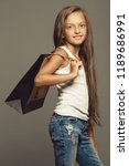 very young shopaholic  great... | Shutterstock . vector #1189686991