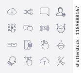 outline 16 finger icon set....   Shutterstock .eps vector #1189688167