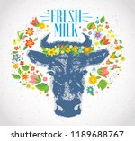 cows head  in the form of a...   Shutterstock .eps vector #1189688767