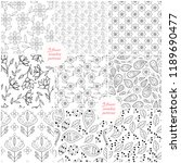 nine floral seamless patterns.... | Shutterstock .eps vector #1189690477