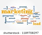 marketing business topic... | Shutterstock .eps vector #1189708297