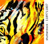 tiger. animalistic abstract... | Shutterstock . vector #1189711807