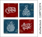 new year cards with handwritten ... | Shutterstock .eps vector #1189712374