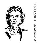 margaret thatcher british prime ... | Shutterstock . vector #1189714711