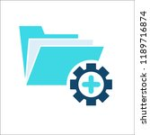 project management icon  data... | Shutterstock .eps vector #1189716874