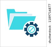project management icon  data... | Shutterstock .eps vector #1189716877
