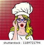 baker  chef or cook looking... | Shutterstock .eps vector #1189721794