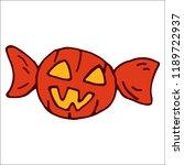 halloween candy pumpkin. yummy... | Shutterstock .eps vector #1189722937