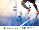 indoor soccer sports hall.... | Shutterstock . vector #1189725181