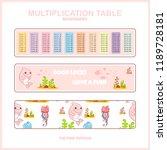 vector multiplication table.... | Shutterstock .eps vector #1189728181