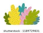 colorful bush cartoon. bush or... | Shutterstock .eps vector #1189729831