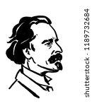 josef manes portrait czech... | Shutterstock . vector #1189732684