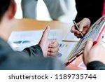 business meeting presentation... | Shutterstock . vector #1189735744