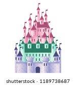children's fairytale castle on...   Shutterstock .eps vector #1189738687
