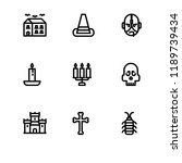 halloween rounded lineal icon... | Shutterstock .eps vector #1189739434
