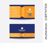 clean modern flat minimal... | Shutterstock .eps vector #1189747534