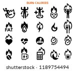 burn your calories icon. crazy... | Shutterstock .eps vector #1189754494