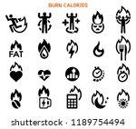 burn your calories icon. crazy... | Shutterstock .eps vector #1189754494