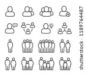 Public People Line Icon Set...