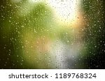 rain drops on window on autumn... | Shutterstock . vector #1189768324