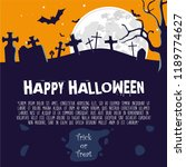halloween illustration with... | Shutterstock .eps vector #1189774627