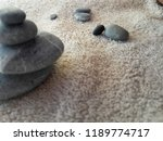 abstract smooth round pebbles... | Shutterstock . vector #1189774717