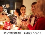winter holidays and people... | Shutterstock . vector #1189777144