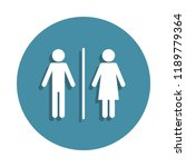 toilet sign icon in badge style.... | Shutterstock . vector #1189779364