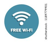 free wifi zone icon in badge...