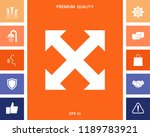 extend  resize  enlarge icon | Shutterstock .eps vector #1189783921
