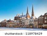 delft main square at winter... | Shutterstock . vector #118978429