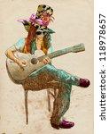 topic  musician  guitar player. ... | Shutterstock . vector #118978657