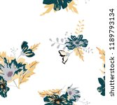 seamless floral pattern.... | Shutterstock .eps vector #1189793134