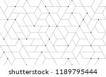 tech futuristic grid pattern... | Shutterstock .eps vector #1189795444