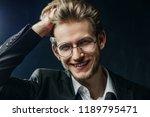 close up studio portrait of... | Shutterstock . vector #1189795471