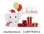 merry christmas and happy new... | Shutterstock .eps vector #1189796911