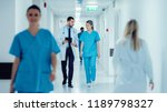 surgeon and female doctor walk... | Shutterstock . vector #1189798327