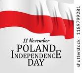 11 november  poland... | Shutterstock .eps vector #1189799281