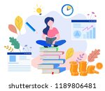 concept business education ... | Shutterstock .eps vector #1189806481