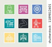 set of 9 people outline icons... | Shutterstock .eps vector #1189812601